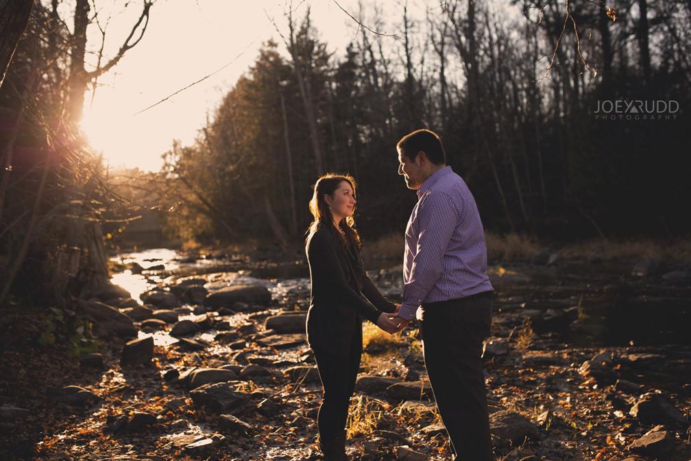 Almonte Engagement Session by Ottawa Wedding Photographer Joey Rudd Photography Chasing Light Sunset