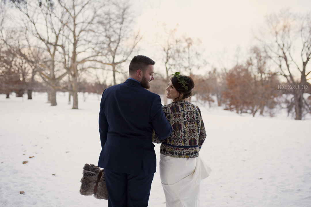 Ottawa winter wedding by ottawa wedding photographer Joey Rudd Photography Arboretum