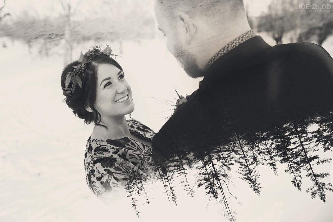 Ottawa winter wedding by ottawa wedding photographer Joey Rudd Photography Double Exposure