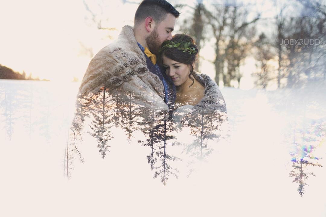 Ottawa winter wedding by ottawa wedding photographer Joey Rudd Photography Multiple Exposure