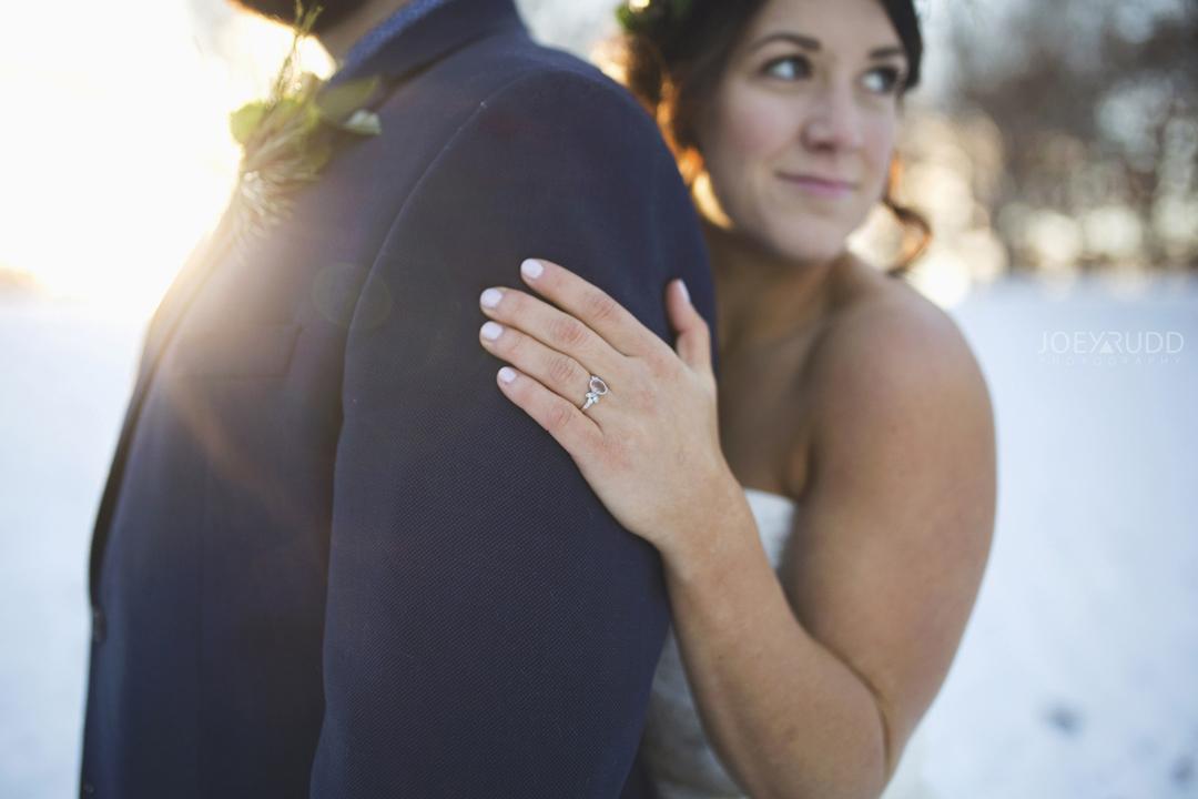 Ottawa winter wedding by ottawa wedding photographer Joey Rudd Photography Ring