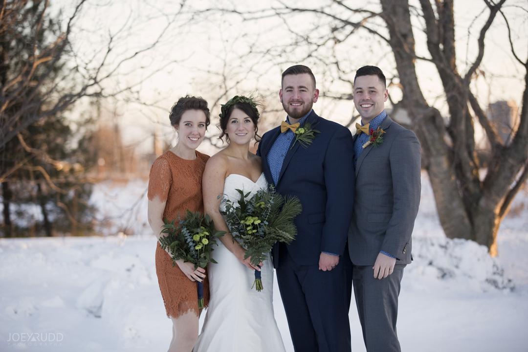 Ottawa winter wedding by ottawa wedding photographer Joey Rudd Photography Wedding Party