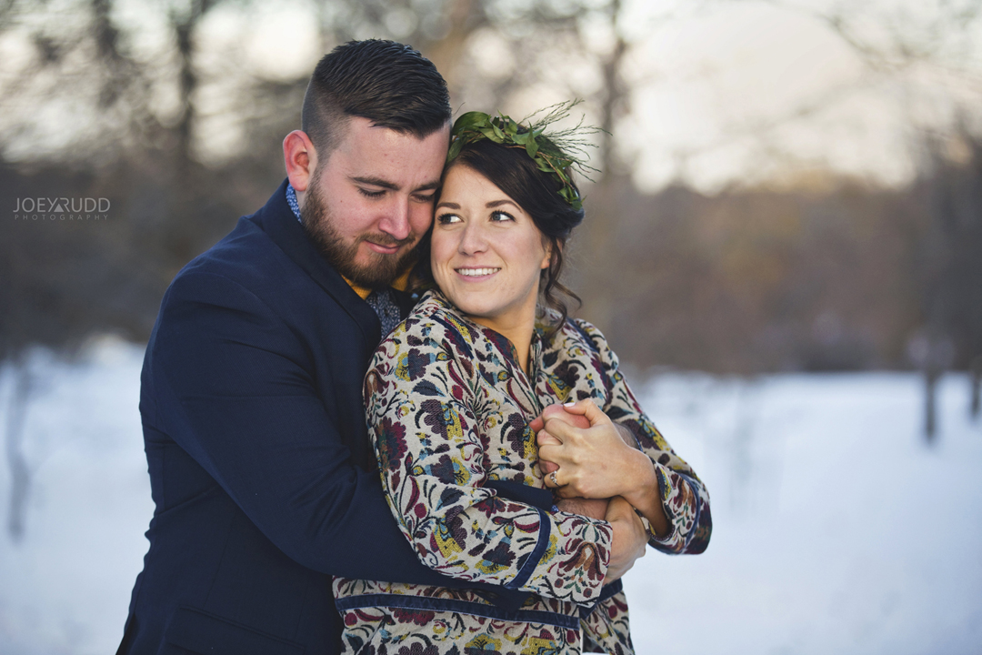 Ottawa winter wedding by ottawa wedding photographer Joey Rudd Photography Couple