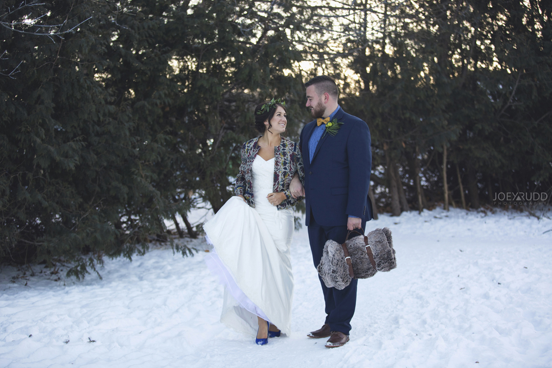 Ottawa winter wedding by ottawa wedding photographer Joey Rudd Photography Wintery