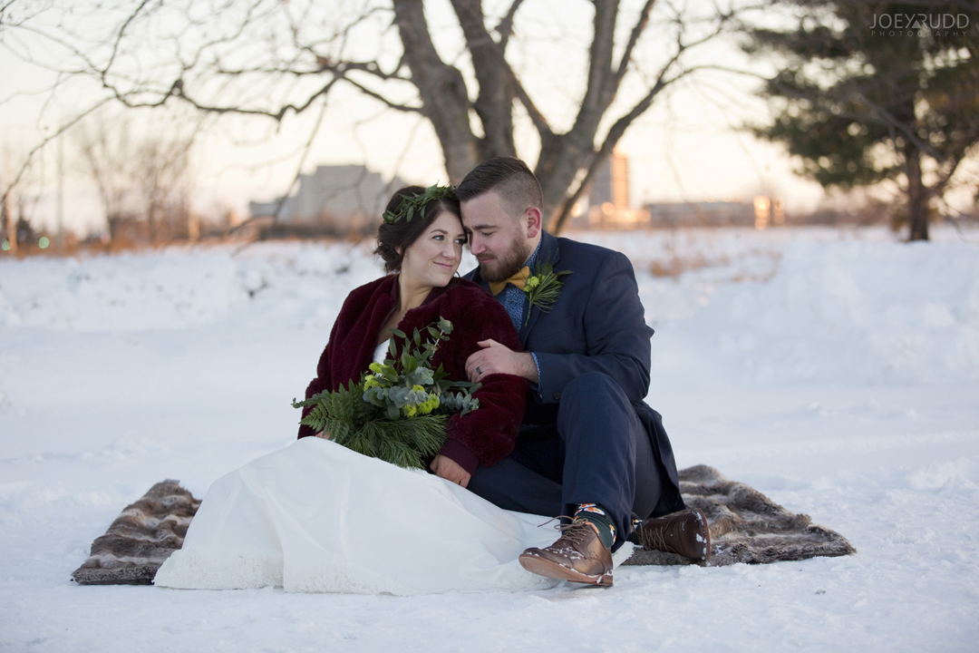 Ottawa winter wedding by ottawa wedding photographer Joey Rudd Photography Sunset City