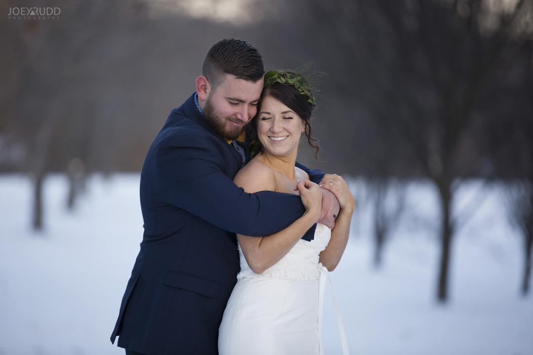 Ottawa winter wedding by ottawa wedding photographer Joey Rudd Photography Outdoors