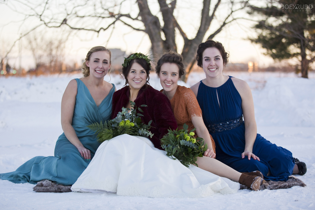 Ottawa winter wedding by ottawa wedding photographer Joey Rudd Photography Friends
