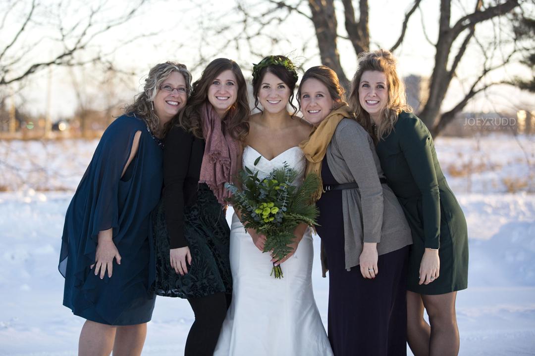 Ottawa winter wedding by ottawa wedding photographer Joey Rudd Photography Sisters