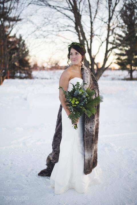 Ottawa winter wedding by ottawa wedding photographer Joey Rudd Photography Bridal