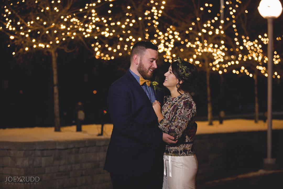 Ottawa winter wedding by ottawa wedding photographer Joey Rudd Photography Salt Preston Lights Night