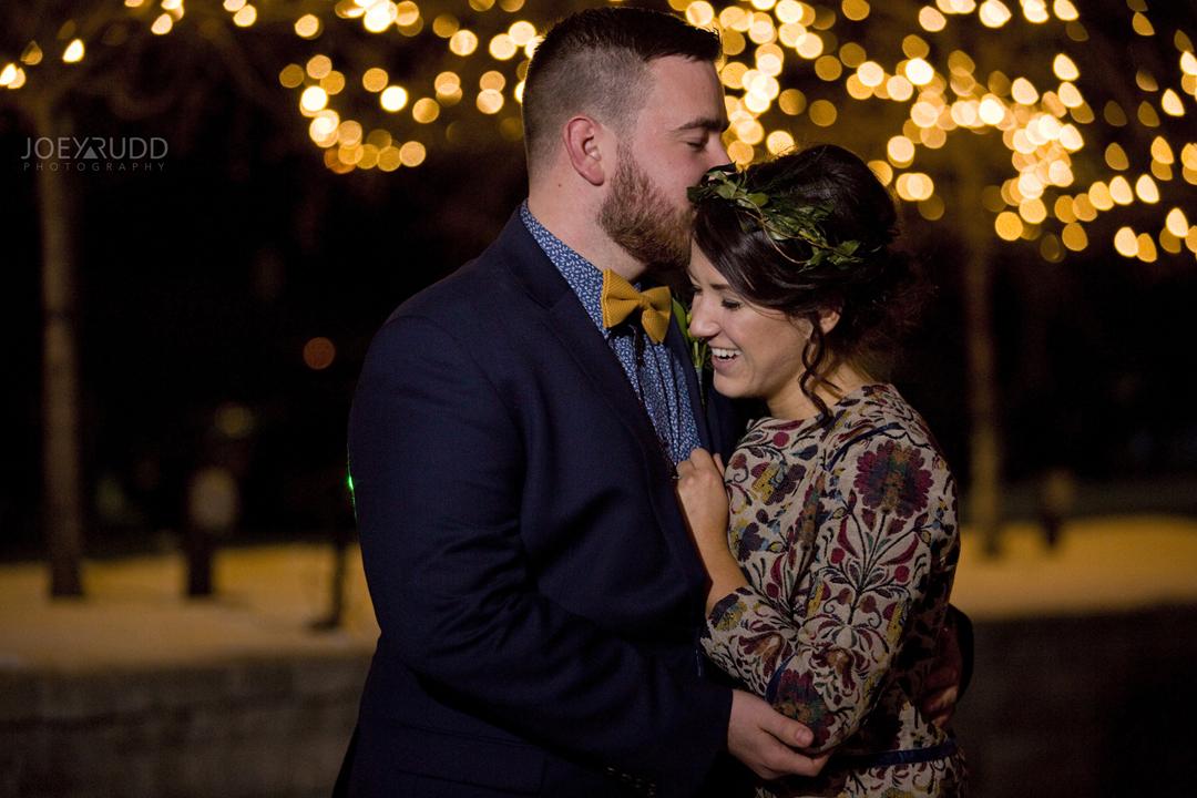 Ottawa winter wedding by ottawa wedding photographer Joey Rudd Photography Salt Preston Lights Night Photo