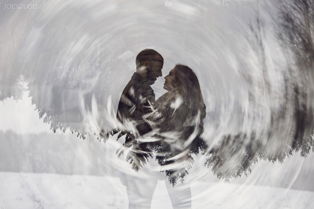 Almonte Engagement at the Mill of Kintail by Ottawa Wedding Photographer Joey Rudd Photography Winter multipe exposure