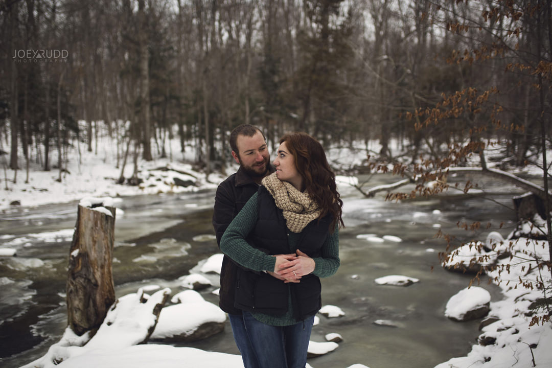 Almonte Engagement at the Mill of Kintail by Ottawa Wedding Photographer Joey Rudd Photography Winter nature