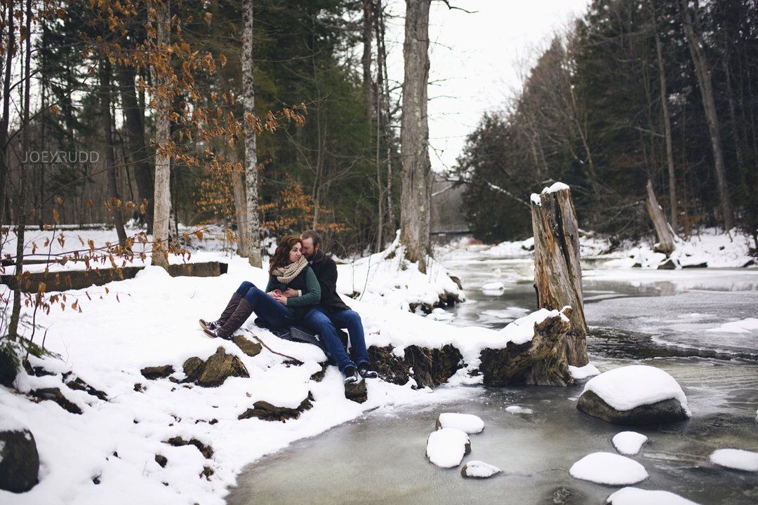 Almonte Engagement at the Mill of Kintail by Ottawa Wedding Photographer Joey Rudd Photography Winter Almonte