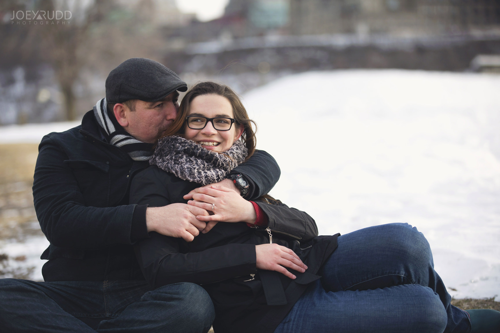 winter engagement at major's hill park by ottawa wedding photographer joey rudd photography parliament