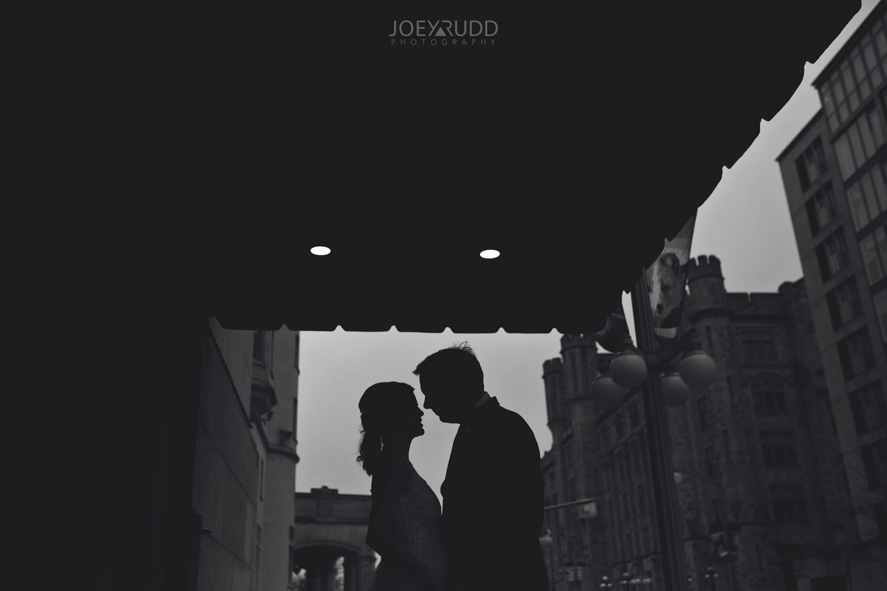 Chateau Laurier Elopement Wedding by Ottawa Wedding Photography Joey Rudd Photography Black and White