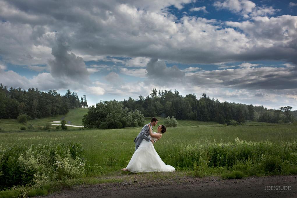 Val-des-Monts Wedding by ottawa wedding photographer joey rudd photography dramatic sky rain