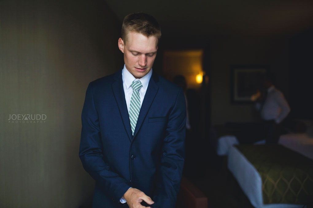 Groom Prep Photo Best Western Perth Stewart Park Code's Mill Ottawa Wedidng Photographer Joey Rudd Photography Style
