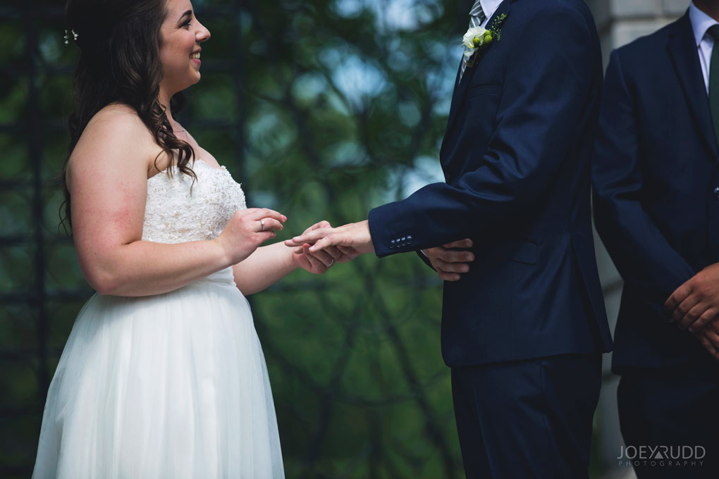 Wedding Ceremony Perth Stewart Park Code's Mill Ottawa Wedidng Photographer Joey Rudd Photography Rings Details Moment