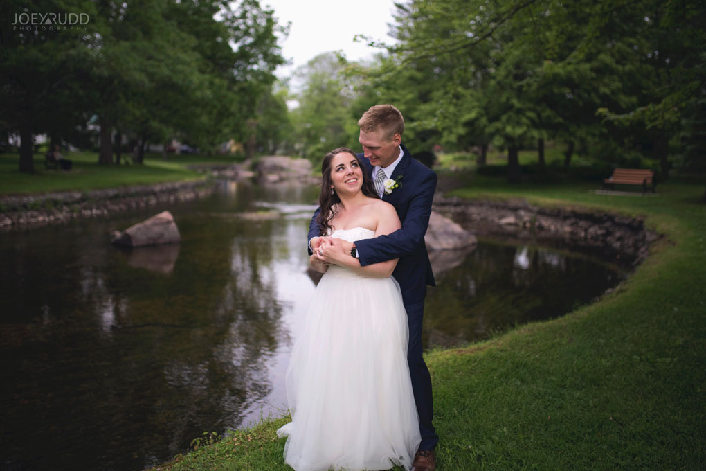 Wedding Perth Stewart Park Code's Mill Ottawa Wedidng Photographer Joey Rudd Photography Couple Water in Park