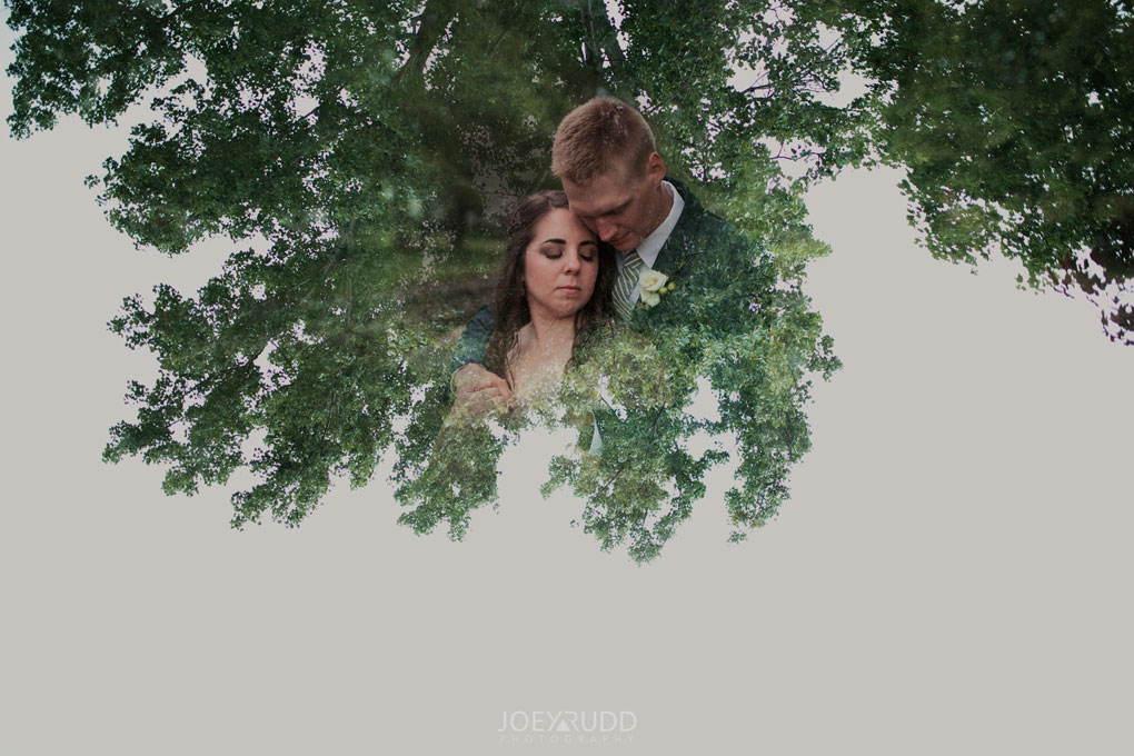 Wedding Perth Stewart Park Code's Mill Ottawa Wedidng Photographer Joey Rudd Photography Couple Double Exposure Willow Tree