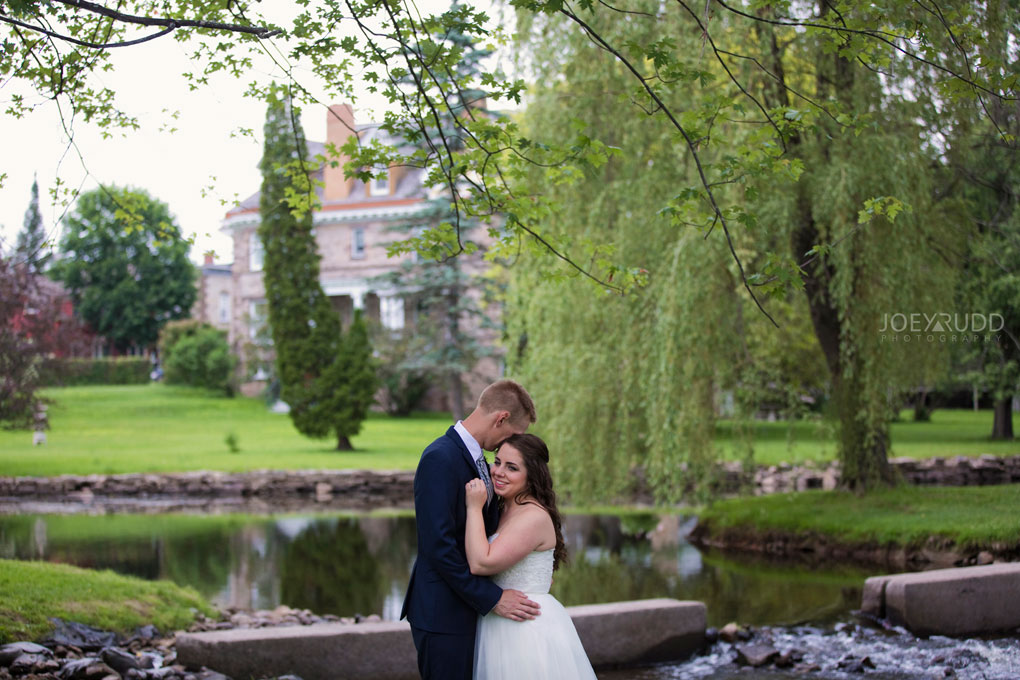 Wedding Perth Stewart Park Code's Mill Ottawa Wedidng Photographer Joey Rudd Photography Couple Water River