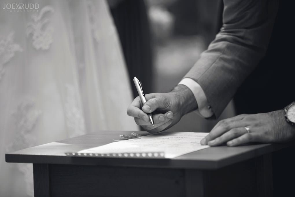 Val-des-Monts Wedding by Ottawa Wedding Photographer Joey Rudd Photography Cottage Ceremony Signing