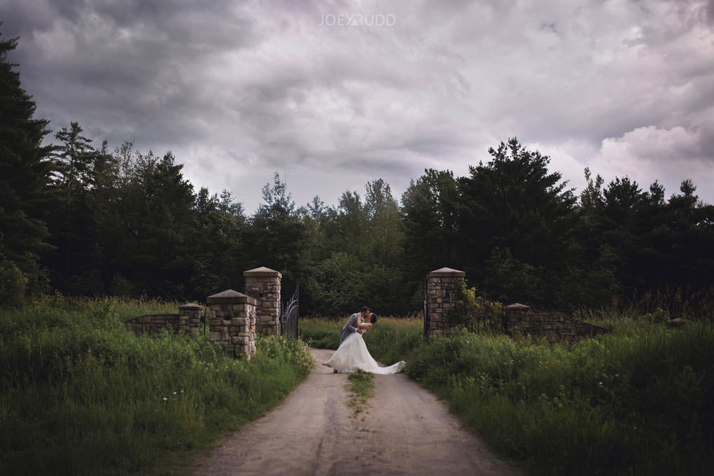 Val-des-Monts Wedding by Ottawa Wedding Photographer Joey Rudd Photography Cottage Wedding stormy gate europe