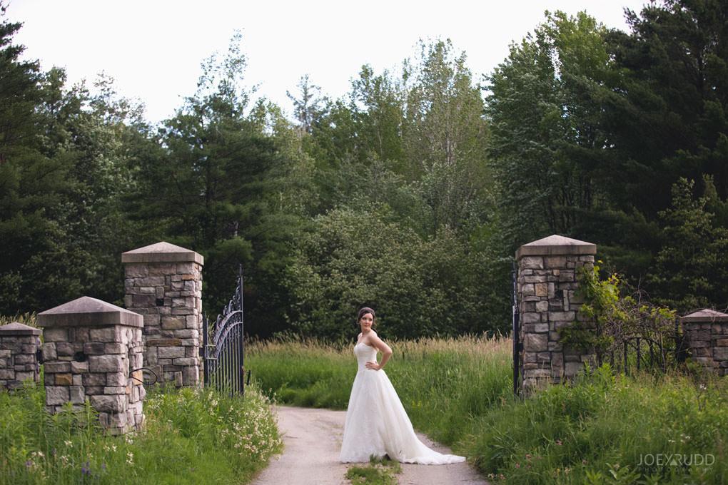 Val-des-Monts Wedding by Ottawa Wedding Photographer Joey Rudd Photography Cottage Wedding Bridal Portrait