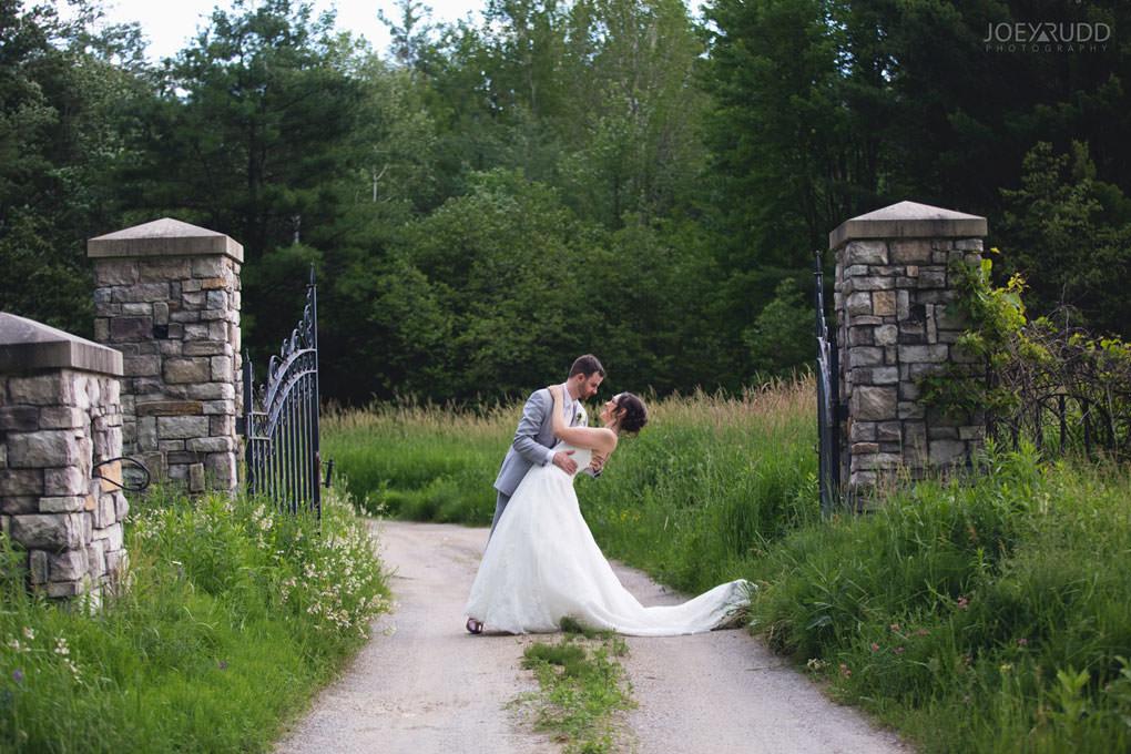 Val-des-Monts Wedding by Ottawa Wedding Photographer Joey Rudd Photography Cottage Wedding Gate