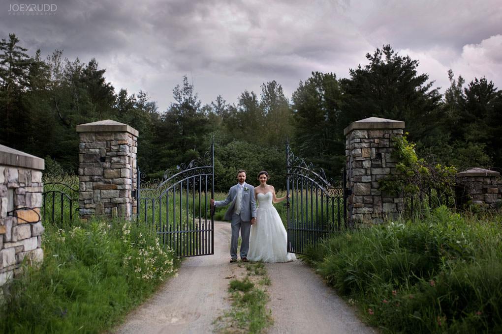 Val-des-Monts Wedding by Ottawa Wedding Photographer Joey Rudd Photography Cottage Wedding Gate european