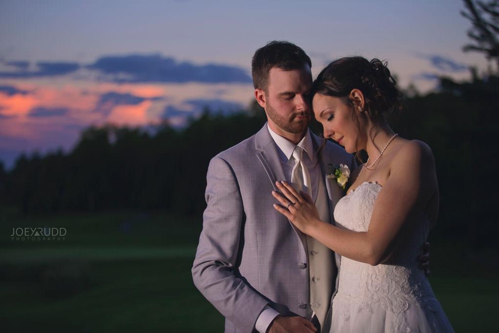 Val-des-Monts Wedding by Ottawa Wedding Photographer Joey Rudd Photography Cottage Wedding Club de Golf le sorcier Sunset