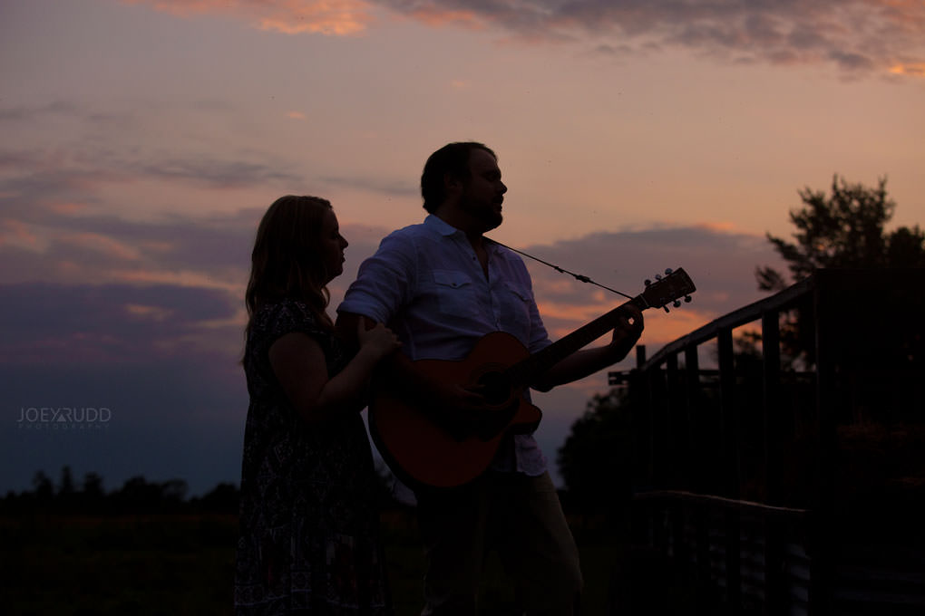 Fitroy Harbour Engagement Session by Ottawa Wedding Photographer Joey Rudd Photography Sunset Farm Rustic Guitar