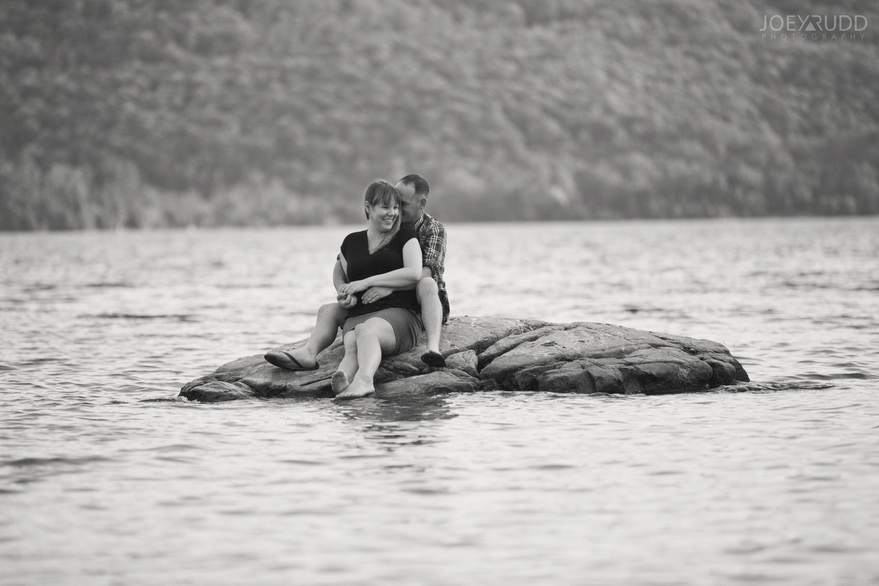 Cottage Engagement Session by Ottawa Wedding Photographer Joey Rudd Photography Rocks Outdoors Island