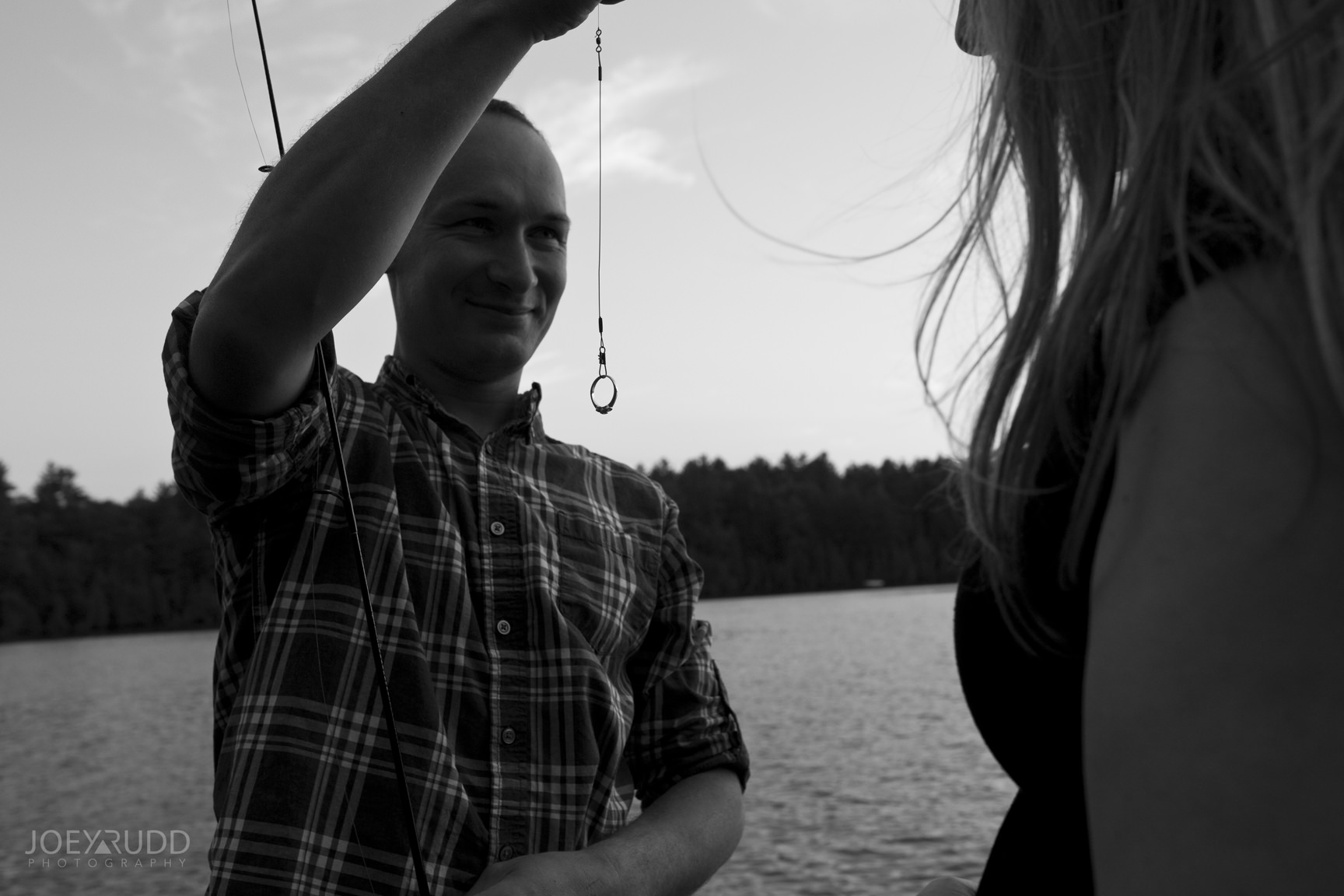 Cottage Engagement Session by Ottawa Wedding Photographer Joey Rudd Photography Ring Propose Candid