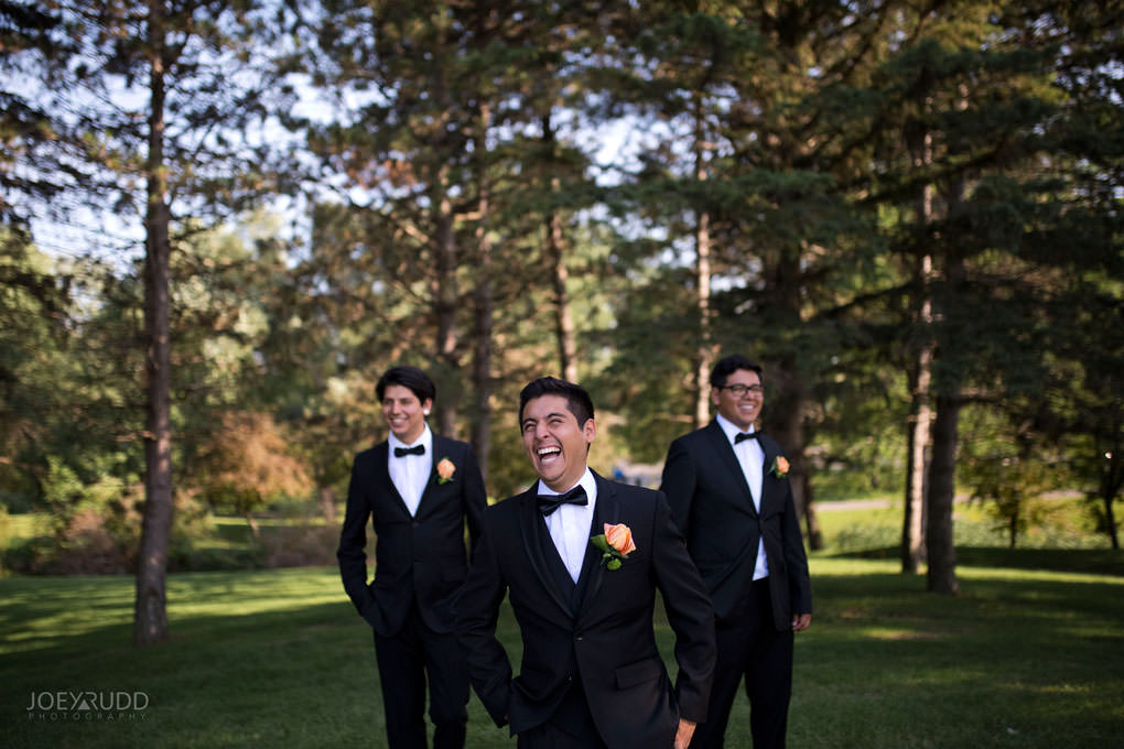 Ottawa Wedding Photos at Andrew Haydon Park and Brittania Beach by Ottawa Wedding Photographer Joey Rudd Photography Wedding Party Guys Fun