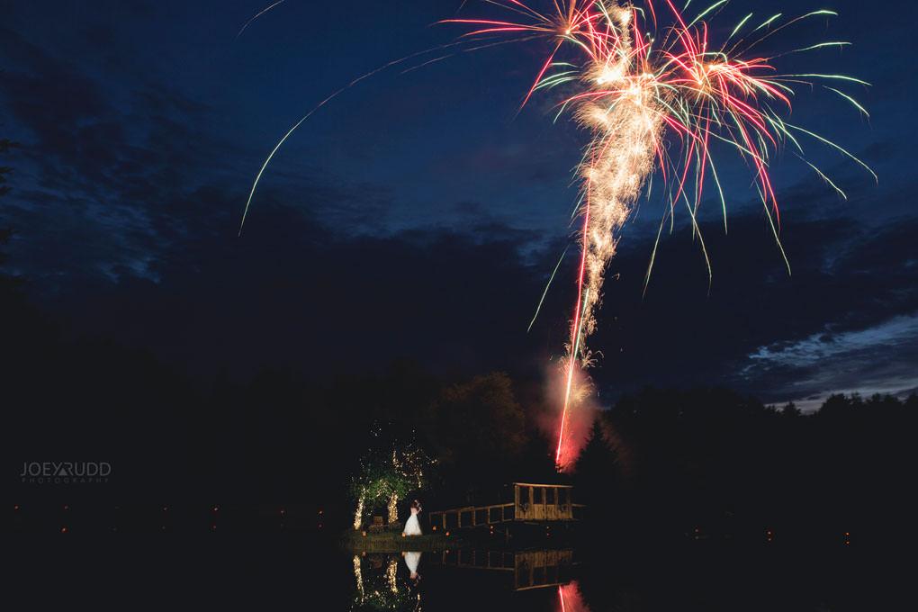 Bean Town Ranch Wedding by Ottawa Wedding Photographer Joey Rudd Photography Barn Rustic Reception Venue First Dance Fireworks