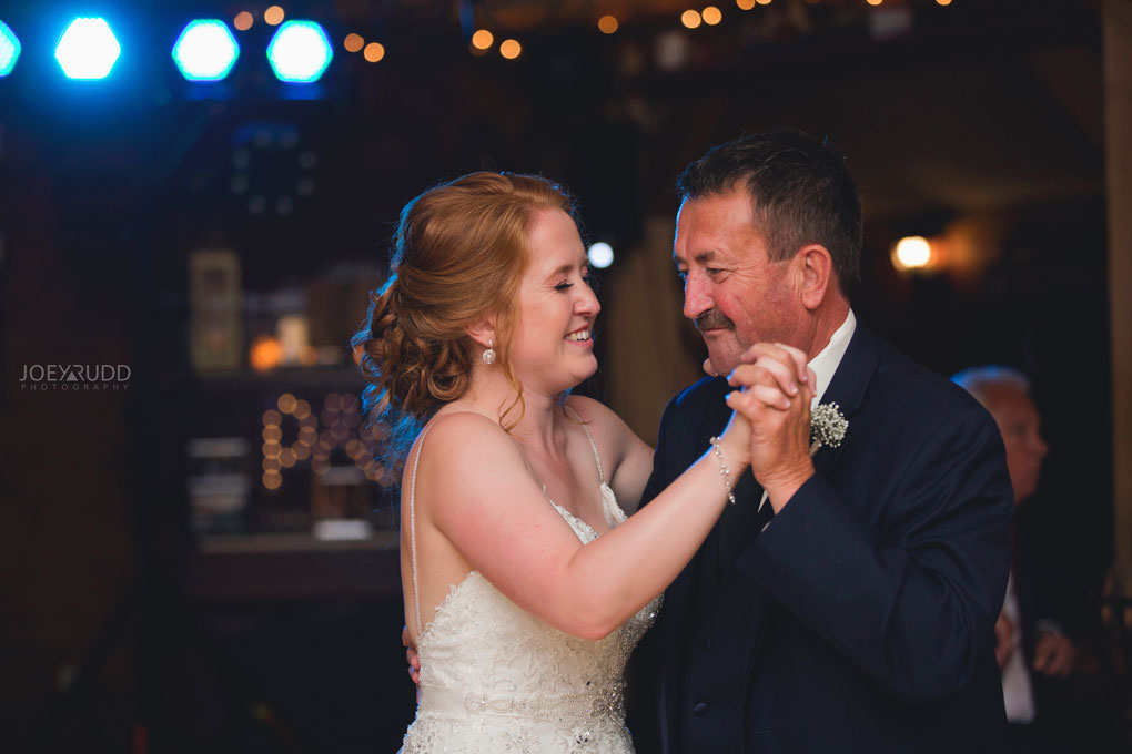 Bean Town Ranch Wedding by Ottawa Wedding Photographer Joey Rudd Photography Barn Rustic Reception Venue Father Daughter Dancing