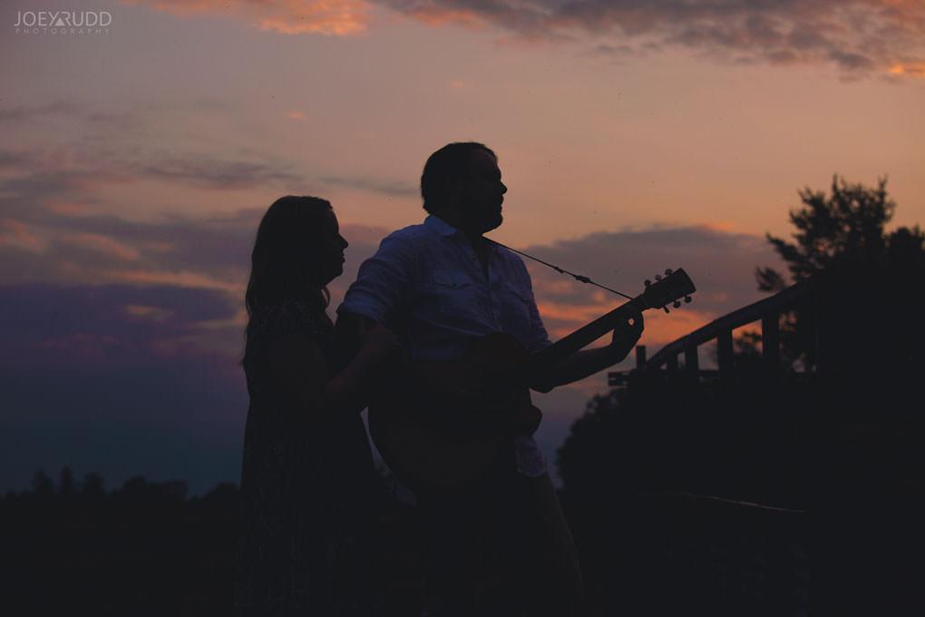 Engagement Session by Ottawa Wedding Photographer Joey Rudd Photography sunset car Silhouette