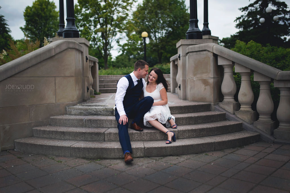 Ottawa Elopement Wedding by Ottawa Wedding Photographer Joey Rudd Photography Art Gallery Major's Hill Park Parliament Chateau Laurier Exceptional Ceremonies Stairs