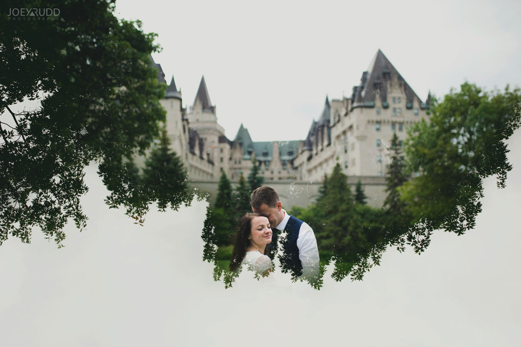 Ottawa Elopement Wedding by Ottawa Wedding Photographer Joey Rudd Photography Art Gallery Major's Hill Park Parliament Chateau Laurier Exceptional Ceremonies Double Exposure Multiple Exposure
