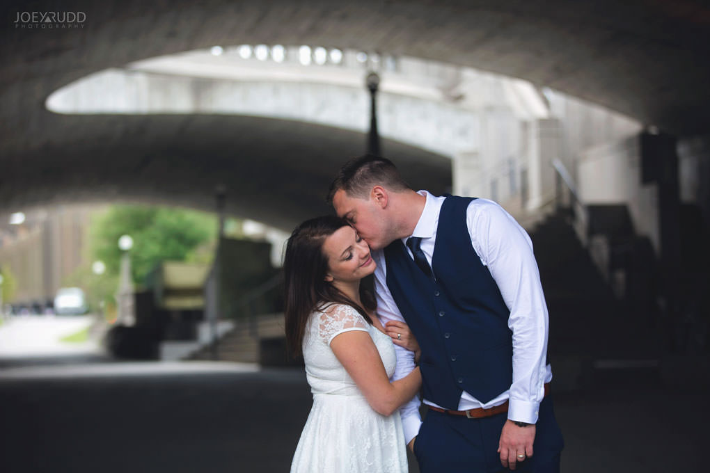 Ottawa Elopement Wedding by Ottawa Wedding Photographer Joey Rudd Photography Art Gallery Major's Hill Park Parliament Chateau Laurier Exceptional Ceremonies Confederation Tunnel Stairs