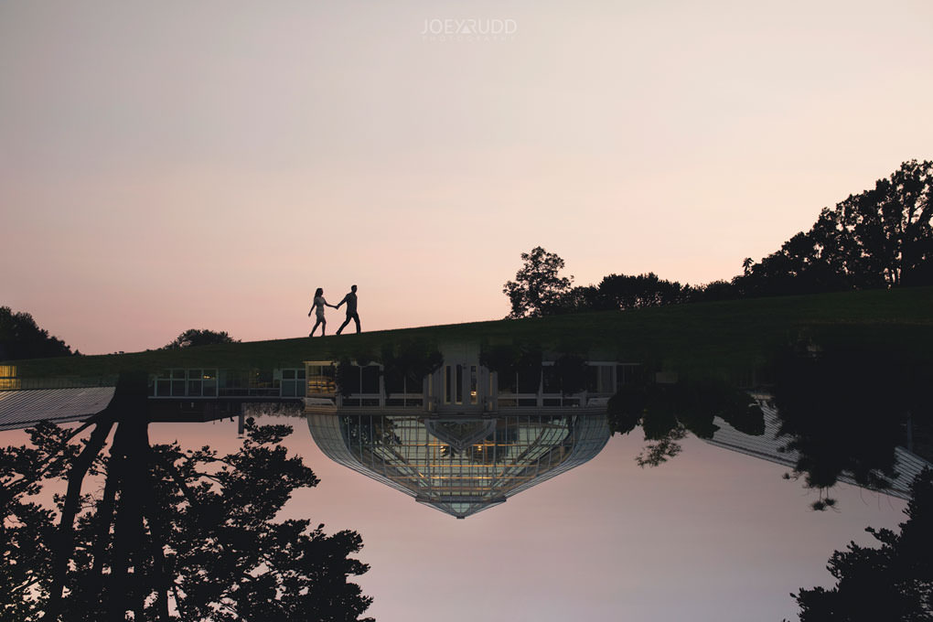 Engagement session at the Arboretum by Ottawa Wedding Photographer Joey Rudd Photography Double Exposure Park Multiple Exposure Greehouse