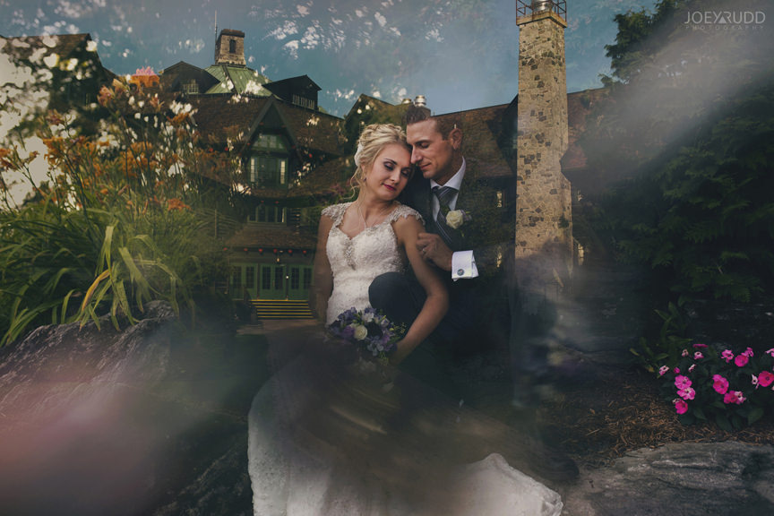 wedding at chateau montebello by ottawa wedding photographer Joey Rudd Photography double exposure