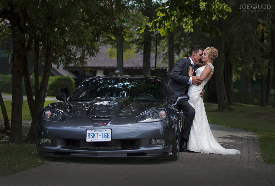 wedding at chateau montebello by ottawa wedding photographer Joey Rudd Photography Car