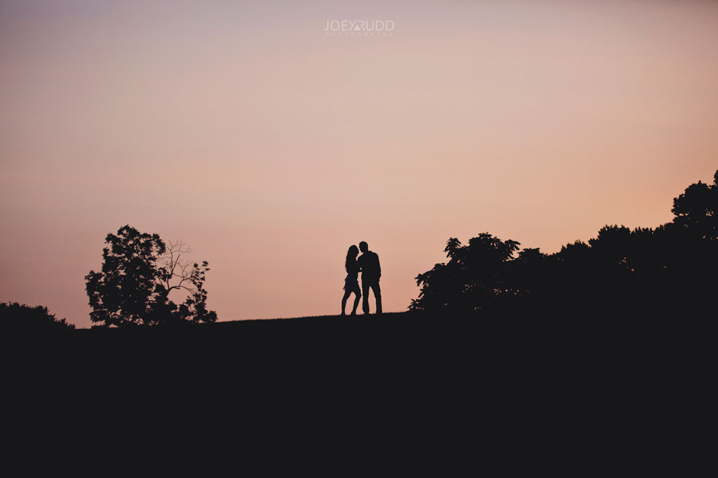 Ottawa Engagement Session at the Experimental Farm and Arboretum by Ottawa Wedding Photographer Joey Rudd Photography Sunset Silhouette