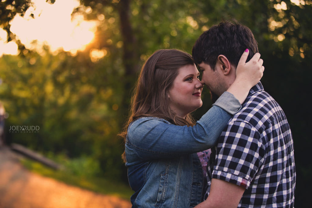 Andrw Haydon Park Engagement Photos by Ottawa Wedding Photographer Joey Rudd Photography Golden Hour Chasing Light Cute