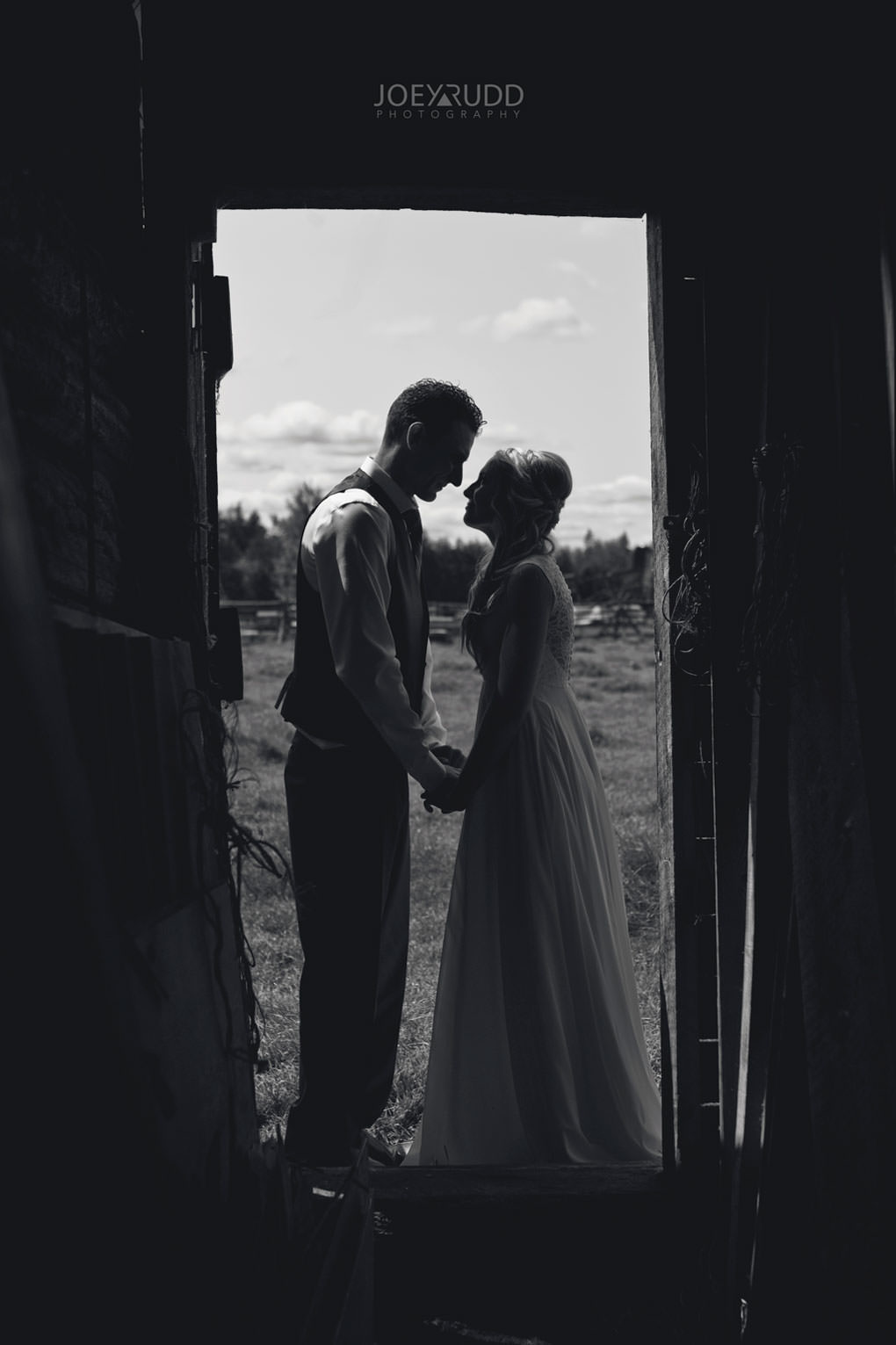 Ottawa Wedding Photography by Ottawa Wedding Photographer Joey Rudd Photography Elopement Carleton Place Smiths Falls Ontario Rustic Barn Silhouette