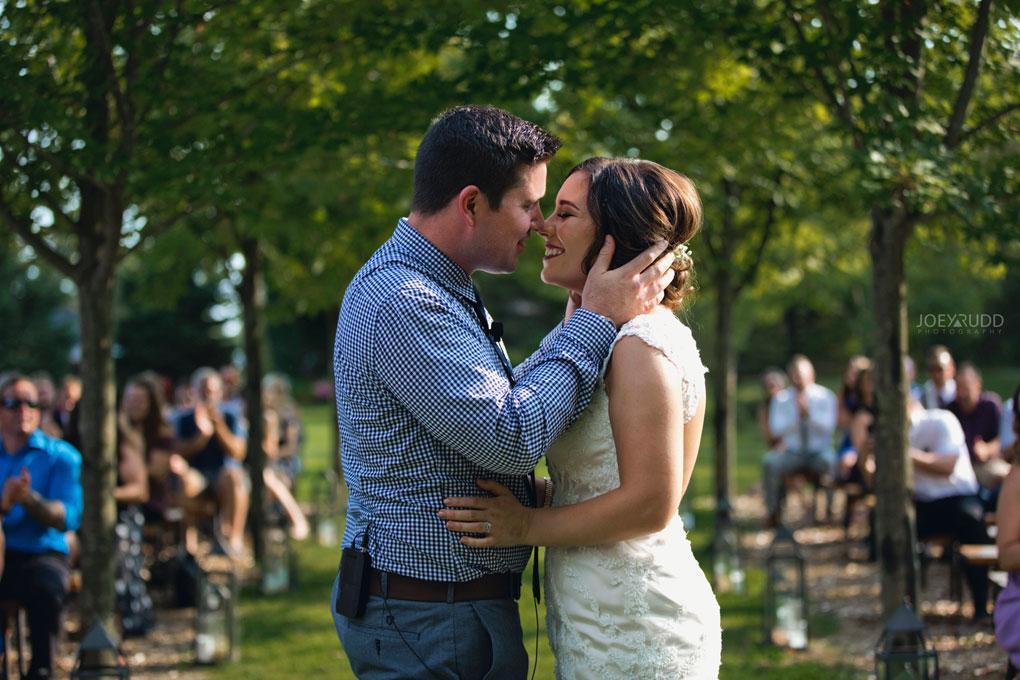 Bean Town Ranch Wedding by Ottawa Wedding Photographer Joey Rudd Photography kiss ceremony