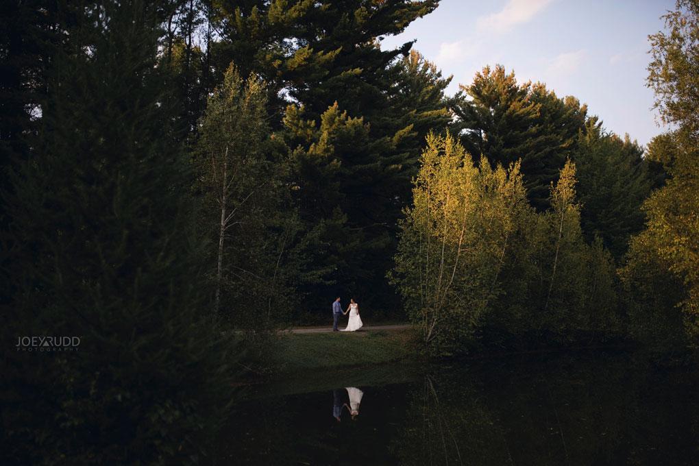 Bean Town Ranch Wedding by Ottawa Wedding Photographer Joey Rudd Photography Bridal Couple Pond